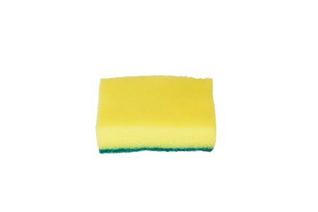 lavar platos: Esponjas para lavar platos aislados sobre fondo blanco Foto de archivo