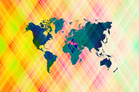 worldmap: Abstract graphic illustration art design background with world map Stock Photo