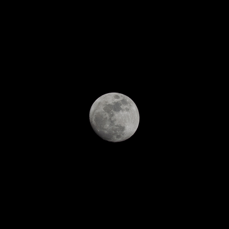 waxing gibbous: The moon on Tuesday 24 November 2015 18:51 Bangkok, Thailand. Phase Waxing Gibbous Stock Photo