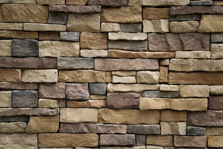 Stone wall texture background surface natural color Banco de Imagens