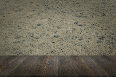decorative balconies: Wood terrace and Sand texture background surface natural color