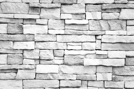 Stone wall texture background surface white color Stock Photo