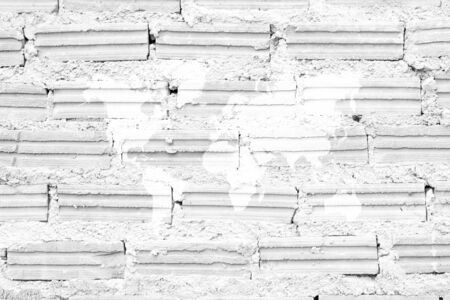 indoor background: Red Brick wall texture surface white color use for background with world map