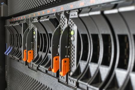 mainframe: Computer Server mainframe and raid storage in datacenter