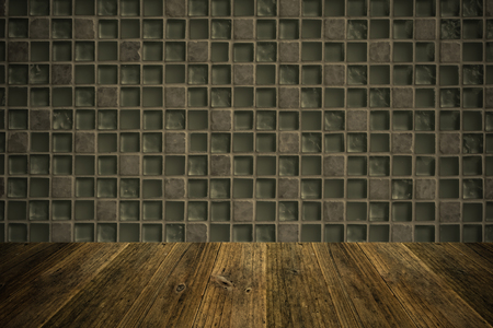 natural process: Wall texture surface natural color use for background , process in vintage style with Wood terrace Stock Photo