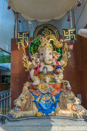 worshipped: Bangkok, Thailand - March 6, 2016 : Ganesha also known as Ganapati and Vinayaka, is one of the best-known and most worshipped deities in the Hindu pantheon. Editorial