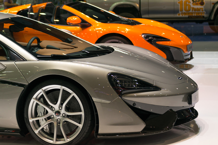 credentials: Bangkok, Thailand - December 10, 2015 : Some parts of the car show event. This a open event no need press credentials required. Editorial