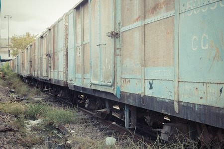 bogie: Between bogie of a Public Thai Train Railway , process in vintage style