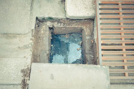 full of holes: Working for drain cleaning. Problem with the drainage system.