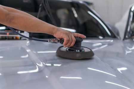 detailing: Cleaning the car (Car detailing) in a car care.