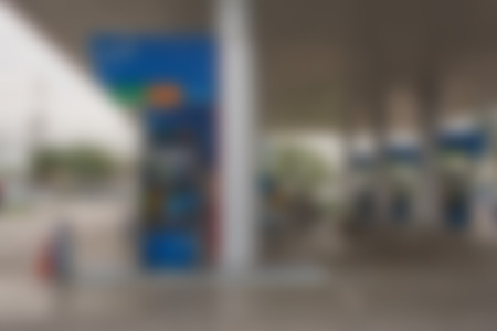 fuel pumps: Blurred of  Fuel pumps at a petrol gas station Stock Photo