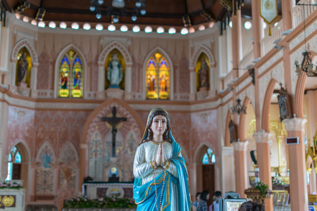 immaculate: The Virgin Mary statue at The Cathedral of the Immaculate Conception is a Roman Catholic Diocese of Chanthaburi.