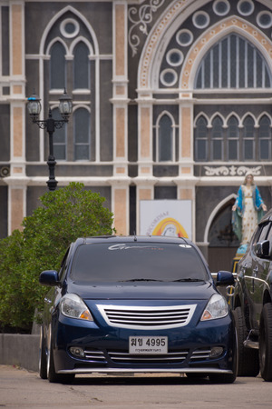 Chanthaburi, Thailand - May 6, 2016 : You can drive your car travel to The Cathedral of the Immaculate Conception is a Roman Catholic Diocese of Chanthaburi.