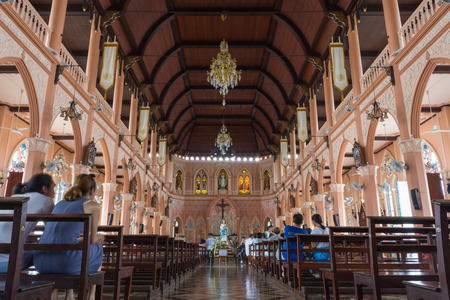 immaculate: Chanthaburi, Thailand - May 6, 2016 : The Cathedral of the Immaculate Conception is a Roman Catholic Diocese of Chanthaburi.