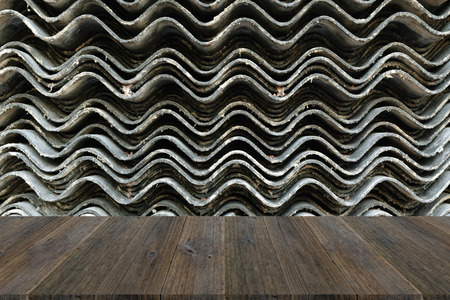 Wall texture surface natural color use for background with Wood terrace Stock Photo - 65563730
