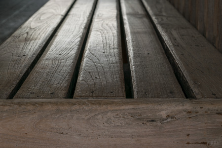vintage furniture: Wooden bench brown color is a wood furniture vintage style