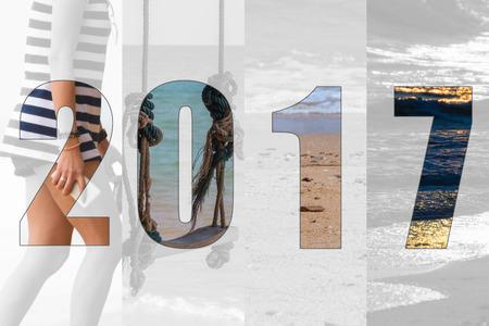 slew: Happy New Year 2017 in Travel Theme (Sea, Beach)