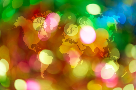Abstract Bokeh Background Of Light For Celebration New Year And