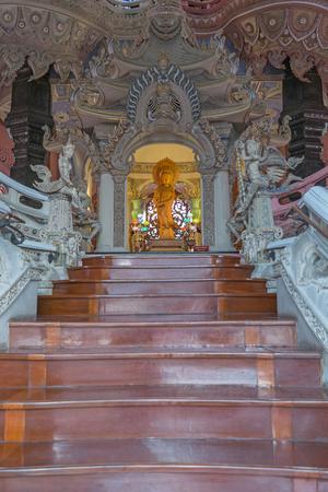 Statue at Thai temple (Wat Thai) Stock Photo