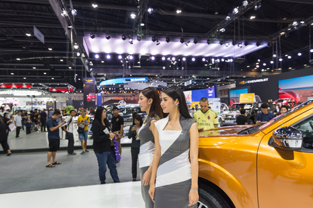 yearly: Bangkok, Thailand - December 11, 2016 : Unidentified model on display in Car show event at Bangkok, Thailand. This a open event no need press credentials required. Editorial