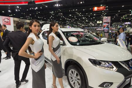 credentials: Bangkok, Thailand - December 11, 2016 : Unidentified model on display in Car show event at Bangkok, Thailand. This a open event no need press credentials required. Editorial