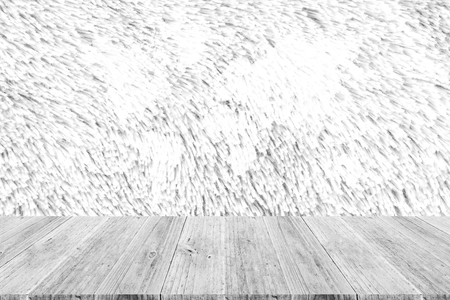 Carpet texture surface white color use for background with Wood terrace and world map Stock Photo