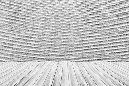 Wood terrace and Fabric texture background surface white color