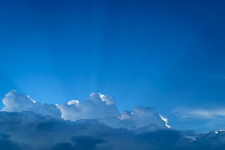Nature cloudscape with blue sky and white cloud