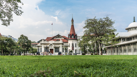 Bangkok, Thailand - May 10, 2017 : The Phya Thai Palace or Royal Phya Thai Palace is on the banks of the Samsen Canal on Rajavithee Road in the Ratchathewi District of Bangkok. Editorial