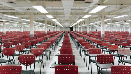 Bangkok, Thailand - July 24, 2016 : Empty exam room for adults exam appoint at State Railway of Thailand.