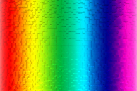 Colorful rainbow abstract background RGB Color 8bit, 3d block style