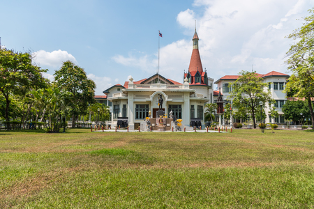 Bangkok, Thailand - May 1, 2017 : The Phya Thai Palace or Royal Phya Thai Palace (Phra Ratcha Wang Phaya Thai) is on the banks of the Samsen Canal on Rajavithee Road in Ratchathewi District Bangkok.