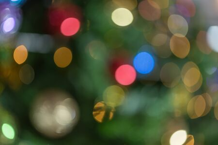 Light abstract bokeh background by blur or defocused at light element use for background or wallpaper in new year festive or christmas concept