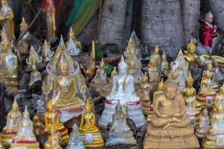 Ang Thong, Thailand - June 24, 2017 : Buddha statue in buddhist temple at Wat Lo Sutthawat, Buddhist temple in Tambon Sala Daeng, Mueang Ang Thong District, Ang Thong Editorial