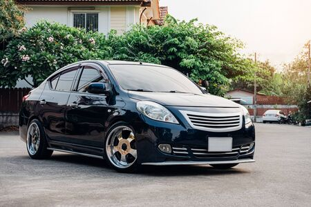 ECO car sedan in Thailand, is being posted in one of Thailand magazine to promote that ECO car can be modified into VIP Style.
