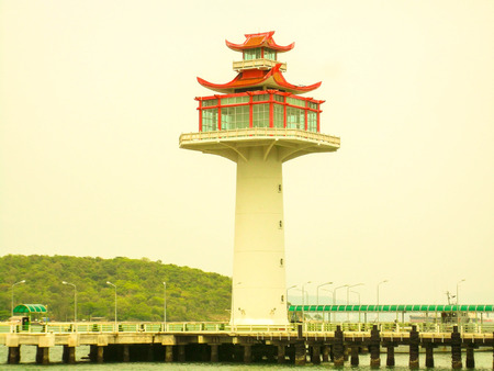 The lighthouse is located at the Port of the Islands.