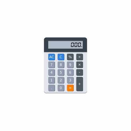 Electronic calculator, Concept calculate account finance, Office equipment, Finance, Business, No background, Vector, Flat icon Ilustração