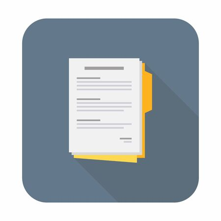 Document of Contract papers, Report, Agreement, Business, illustration Vector, Flat icon Ilustração