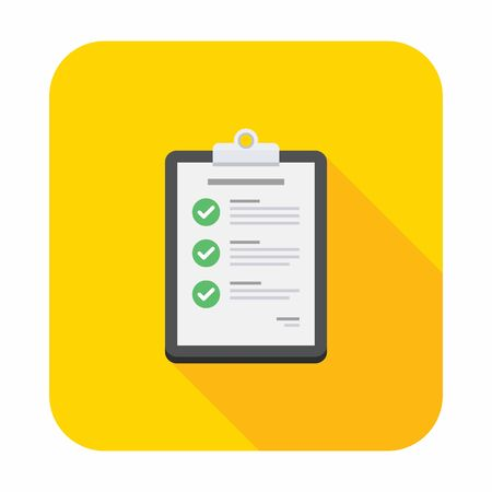 Check list Clipboard, Document, Finance, Business, Isolated, illustration Vector, Flat icon
