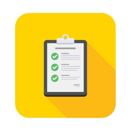 Checklist icon vector isolated.