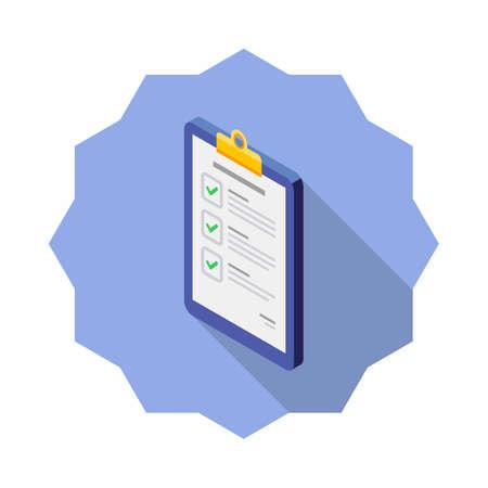 Checklist Isometric left view icon vector isometric.