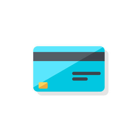 Credit card - Shadow icon vector isolated.