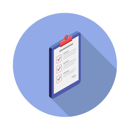 Checklist Isometric right view icon vector isometric.