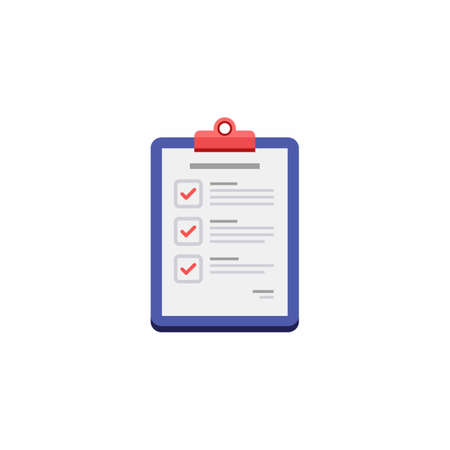 Checklist - White Background icon vector isolated. Illustration