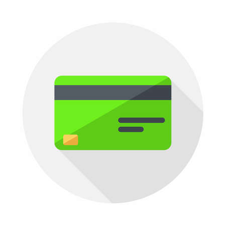 Credit card Green icon vector isolated.