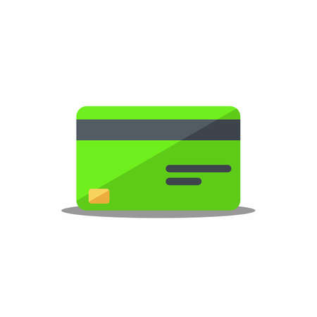 Credit card Green - Shadow icon vector isolated.