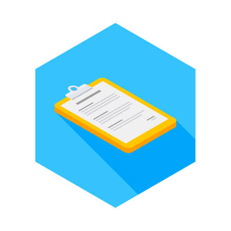 Clipboard Isometric right view icon vector isometric. Illustration