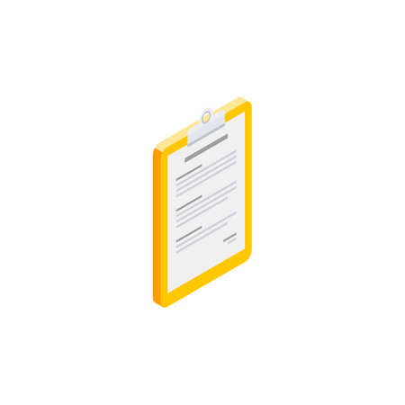 Clipboard Isometric right view - White Background icon vector isometric. Illustration