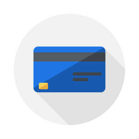 Credit card Blue icon vector isolated.