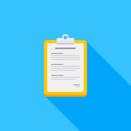 Clipboard icon vector isolated.